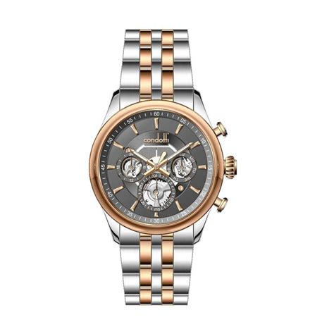 Jam Tangan Pria Condotti 08 harga condotti jam tangan pria silver rosegold stainless