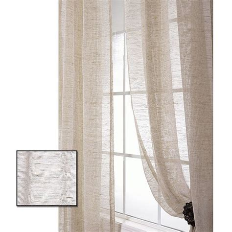 96 sheer curtain panels exclusive fabrics linen open weave natural 96 inch sheer
