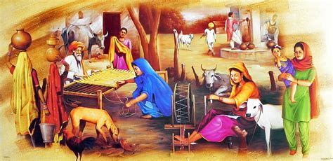 in punjab culture paintings and indian