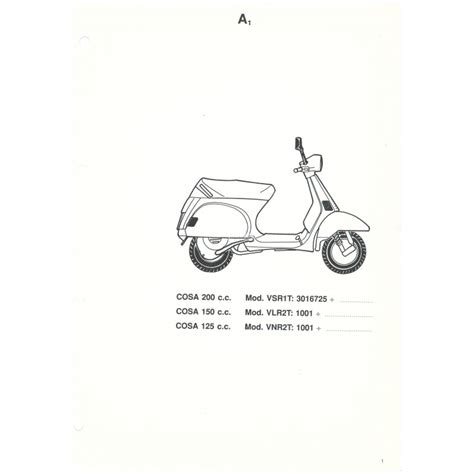 Spare Part Vespa Lx catalogue of spare parts scooter vespa cosa 1992 1995