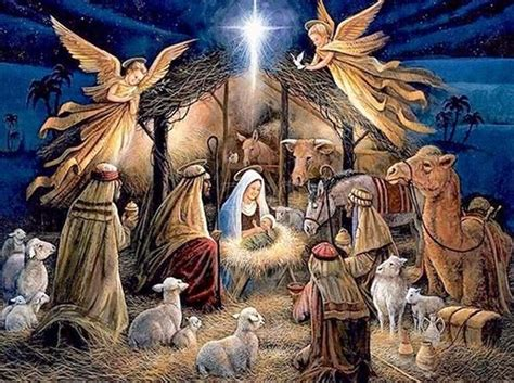 jesus christ birth time square diamond painting bible pictures  christmas nativity