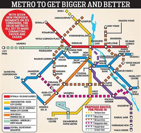 Metro Botanical Garden by Delhi Set For Expanded Metro Service Adding 140km Of
