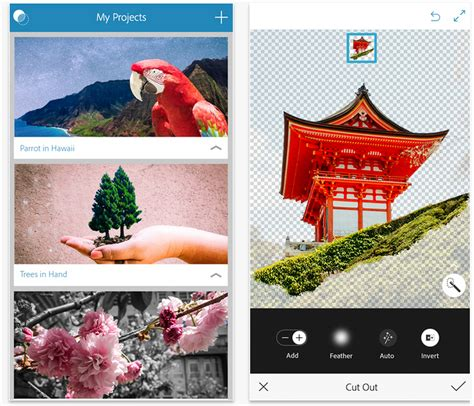 tutorial photoshop mix adobe photoshop mix app gets cc library import send to