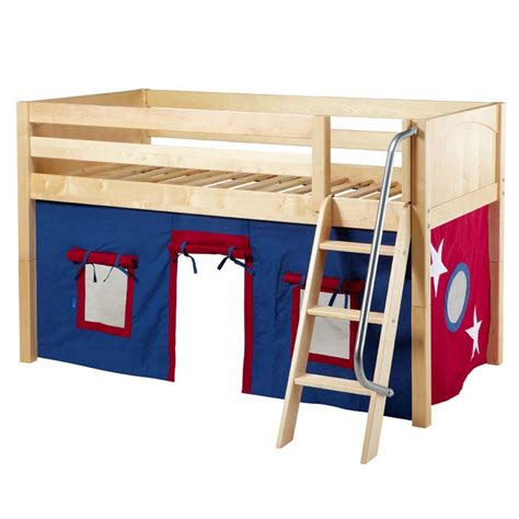 loft bed tent easy rider low loft bed with blue and white tent rosenberryrooms com