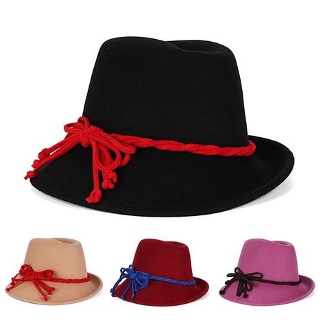 wholesale black hats fedora hat wool winter floppy