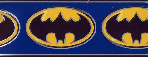 batman wallpaper rolls kids wallpaper border batman logo wall border bz9230