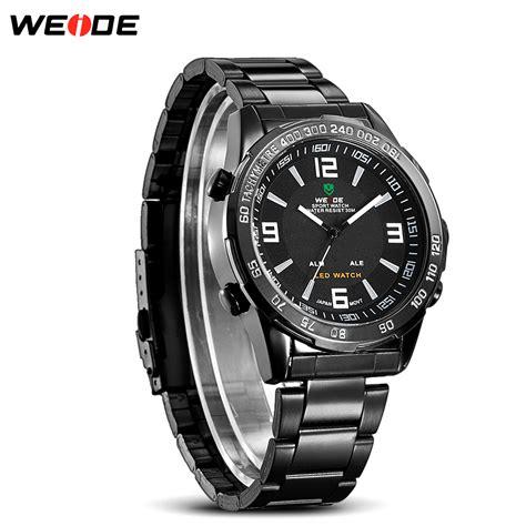 Jam Tangan Pria Black weide jam tangan sporty pria wh1009 black black