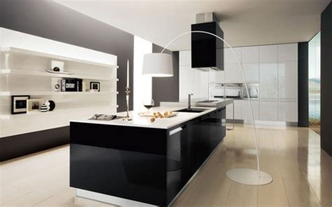 modern black and white kitchen design ideas home office