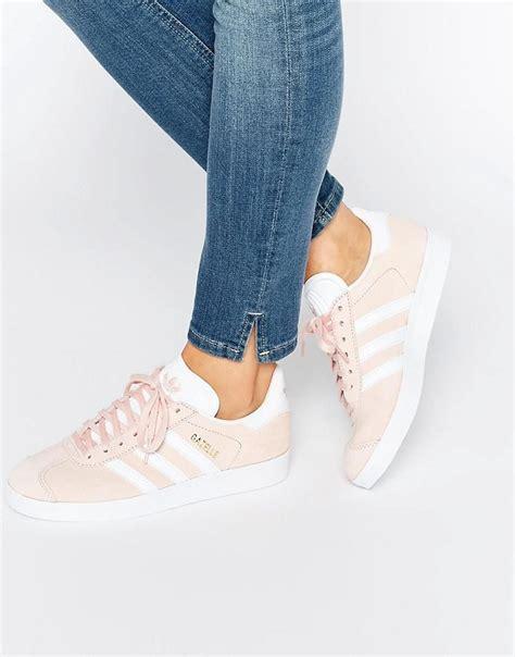 pink adidas originals pink suede gazelle sneakers at asos if the shoe fits estilo de