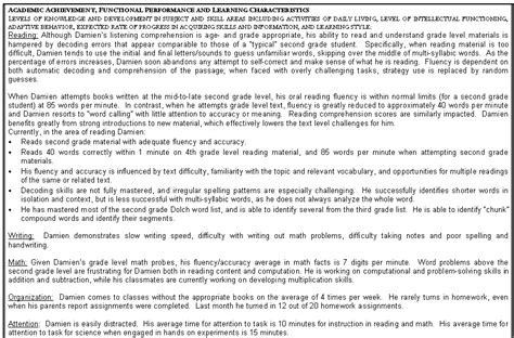 academic achievement functional performance learning characteristics slide22