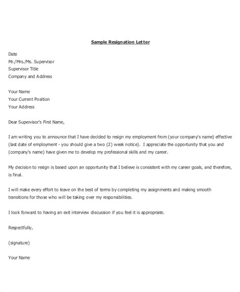 Best Resignation Letter by Resignation Letter 22 Free Word Pdf Documents Free Premium Templates