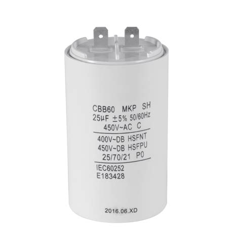 run capacitor small cylinder shaped cbb60 25uf 450v ac motor run capacitor for washing machine hs837 ebay