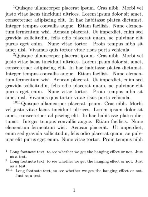 footnote format in latex spacing extra space between footnote numbers and content
