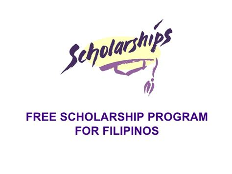 section 8 scholarship free scholarship program for filipinos
