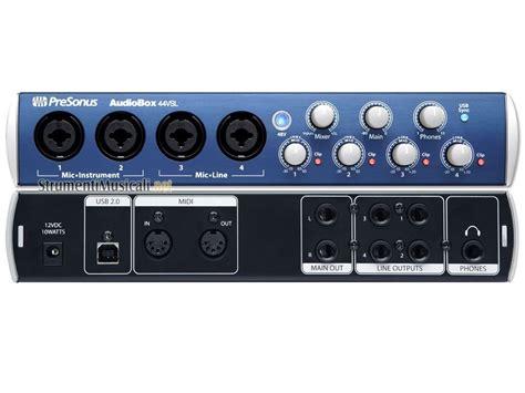 Audio Box Usb presonus audiobox 44vsl studiolive mixer power in usb 2 0