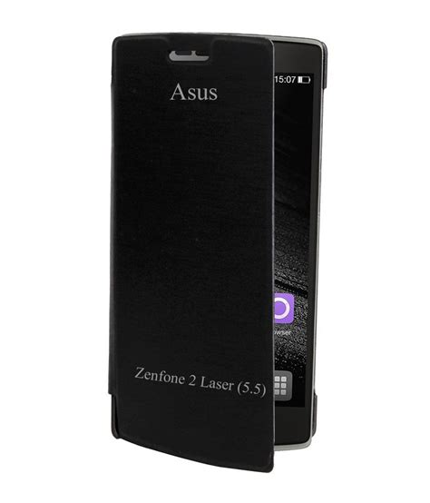 Flip Cover Asus Zenfone 2 rdcase flip cover for asus zenfone 2 laser ze550kl black flip covers at low prices