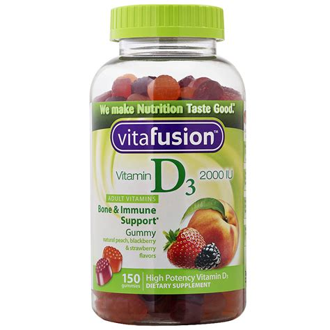 vitamin d vitafusion vitamin d3 2000 iu gummy vitamins t walgreens
