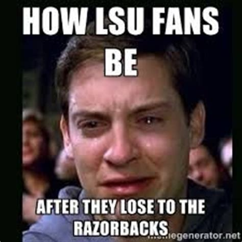 Lsu Memes - 1000 ideas about arkansas razorbacks football on