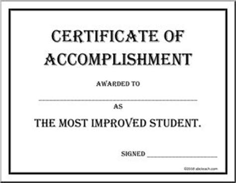 most improved student certificate 2 free word templates