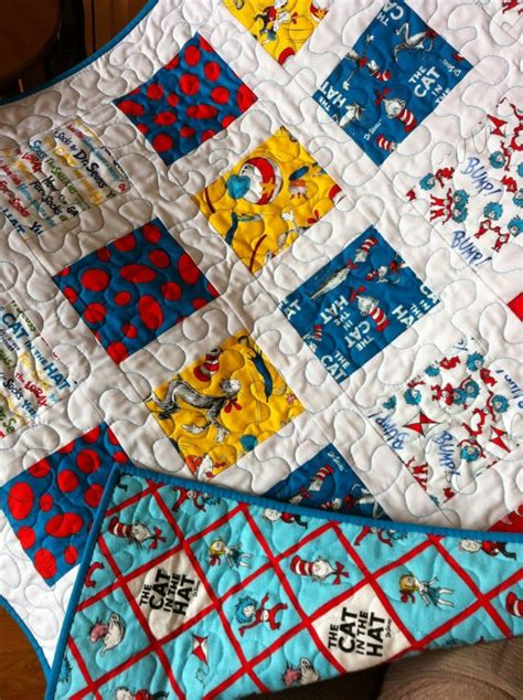 Baby Boy Quilt Fabric by Baby Boy Quilt Dr Seuss Fabric Baby Quilt Turquoise Blue Nursery Bedding Minky Baby Blanket
