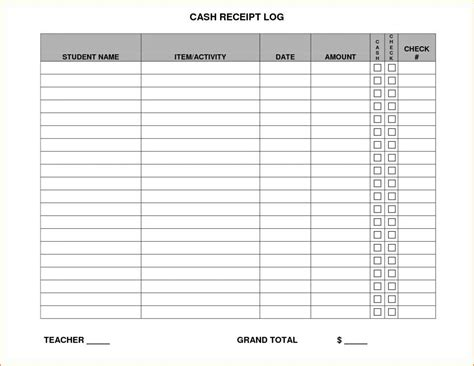 Receipt Log Template Excel by Contractor Invoice Template Free With Receipt Log