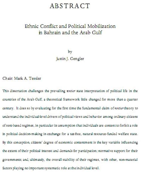 phd thesis abstract how to write religion and politics in bahrain ethnic conflict and
