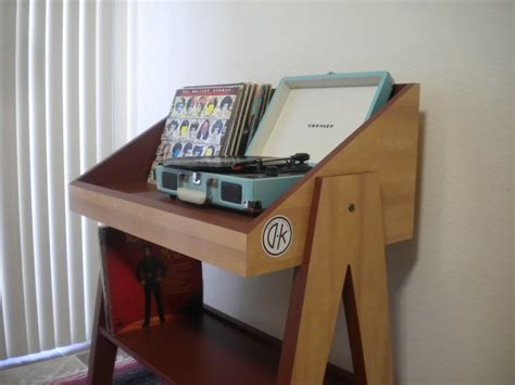 diy record player cabinet record player stand and vinyl storage