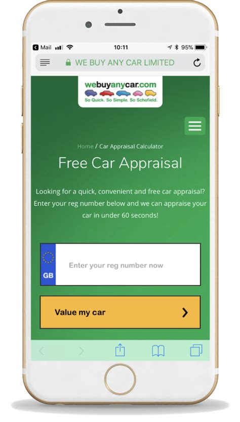 car appraisal calculator appraise  car webuyanycarcom