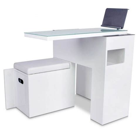 Quot Zen Quot White Space Saver Manicure Table New Products White Manicure Table