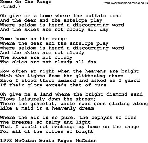 home on the range by the byrds lyrics with pdf