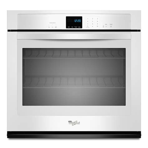 shop whirlpool single electric wall oven white common 30 in actual 30 in at lowes