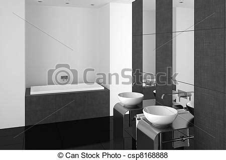 Alle Schwarzen Badezimmer by Stock Illustration Badezimmer Modern Schwarz Boden