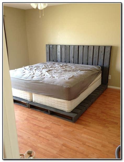 wooden pallet bed frame diy bed frame pallet beds home design ideas