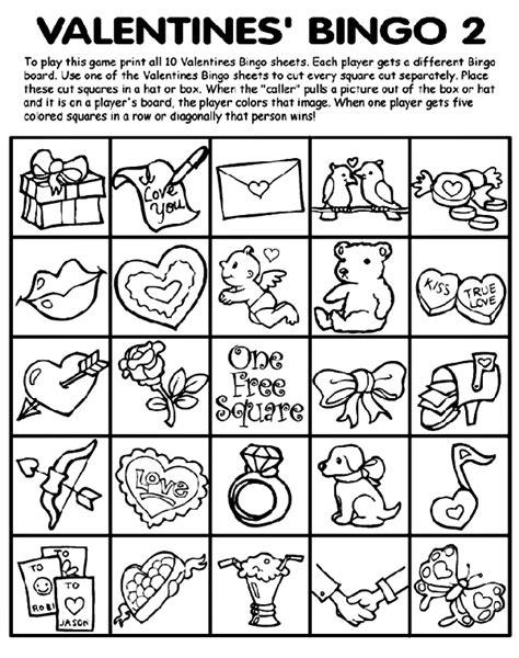 crayola free coloring pages holidays valentine s day valentine s bingo 2 crayola co uk