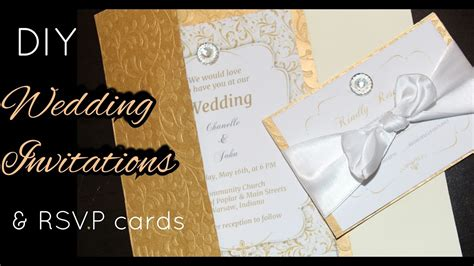 diy how to make gold wedding invitations rsvp cards stationary cards easy to do