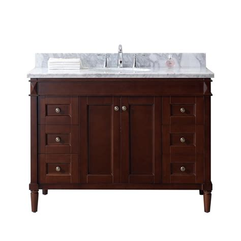 Virtue Vanity by Virtu Usa 48 In W X 22 In D Vanity In Cherry