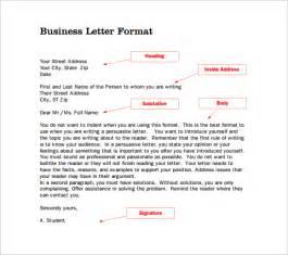 Business Letter Format Correct 14 proper letter formats free sample example format