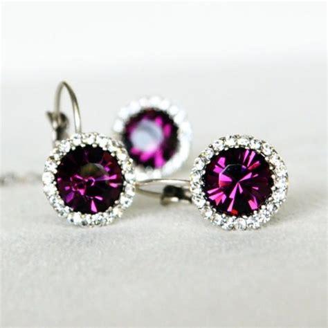 purple earrings for wedding www pixshark images