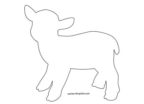 sheep template easter template coloring page templets