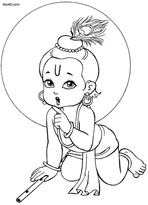 Krishna Face Coloring Pages Coloring Pages Of Krishna