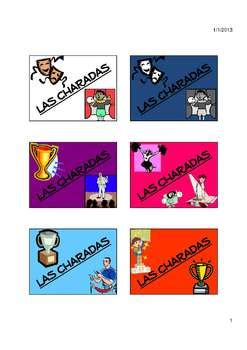 themes en espanol charades spanish vocabulary game with 35 themes complete