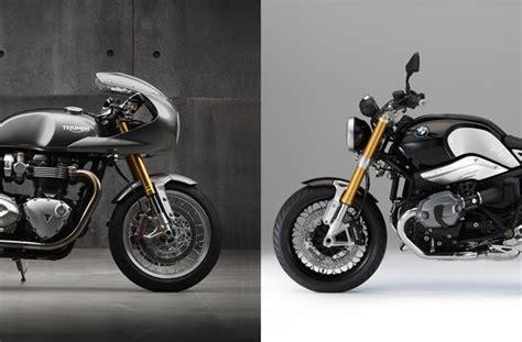 Triumph Motorrad Vergleich by Testbericht Triumph Thruxton R Vs Bmw R Ninet Vergleich