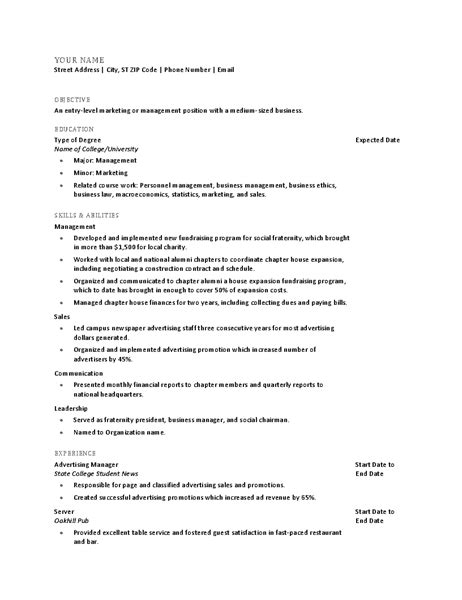 Recent Graduate Resume Template by Resumes For Recent College Graduates Best Resume Collection