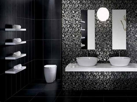 Cool White Black Black Bathroom Ideas Applied For Modern Black And White Modern Bathroom
