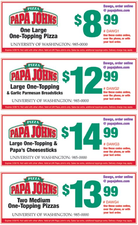 papa john s discount vouchers papa johns august coupon codes blog