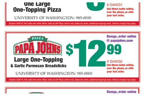 papa john coupon hawaii