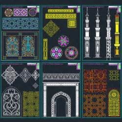 Islamic Home Decorations islamic decoration patterns vector dwg collection