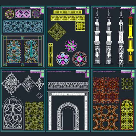 Islamic Decorations by Autocad Collection Of Islamic Decoration Pieces