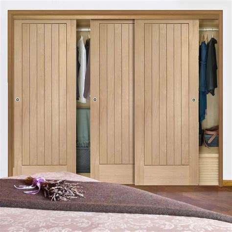 sliding wardrobe doors amp frame kit suffolk oak
