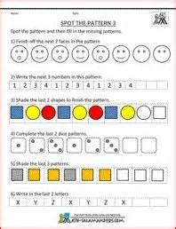 Pattern Review Math | kindergarten geometry patterns worksheet printable